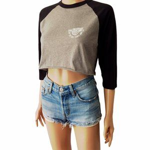 Vans Off The Wall 2 Sided T Shirt Skate Crop Top